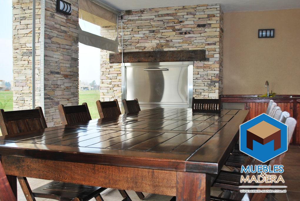 Muebles de madera para quinchos muebles de jardin venta for Parrillas para casas modernas